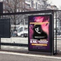 Diseño Gráfico - Cartel promocional Terraza Platinum Barceló